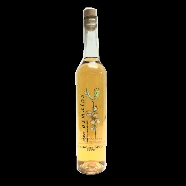 botella orujo artesano de castañas licor casero