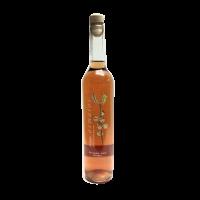 botella orujo artesano de frambuesa licor casero