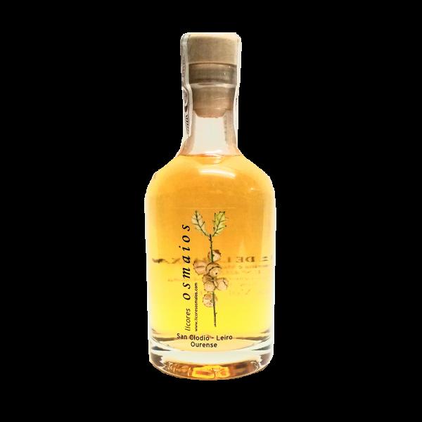botella orujo artesano de naranja licor casero