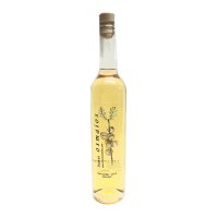 botella orujo artesano de cilantro casero